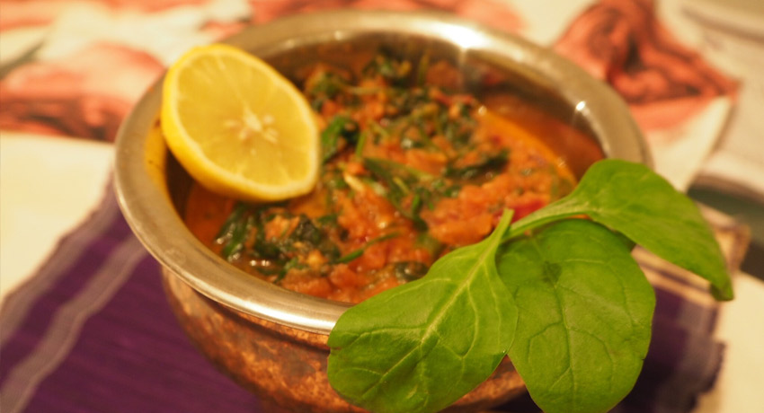 Spinach Curry by Binny